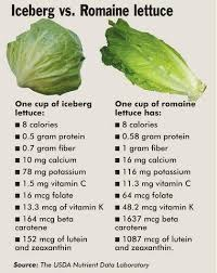 a breakdown of the nutritional facts of iceberg lettuce romaine lettuce and kale for good mere how does your favourite leafy green stack up