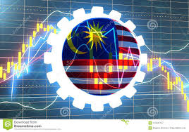Malaysia Stock Market Chart Candlestick Stock Exchange Background Stock Illustration