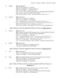 english syllabus fall  6