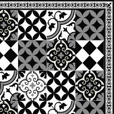 pvc vinyl mat linoleum rug free mix tiles pattern 313 black white