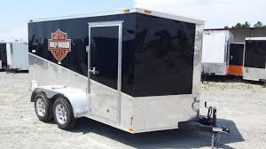 7x12ta custom motorcycle trailer with decals