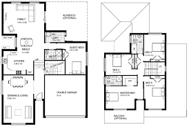 two y house design with floor plan modern house
