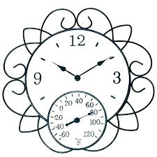 outdoor clock and thermometer garden clocks outside home depot barometer garden clock thermometer