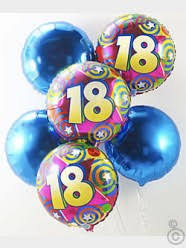 18th special birthday balloon bouquet standard