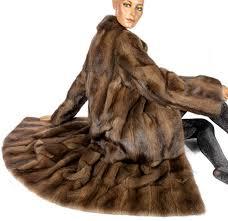 fantastic genuine fur coat made of muskrat fur soft and warming smooth fur like