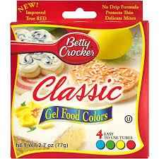 Betty Crocker Gel Food Color Blending Chart Betty Crocker Classic Gel Food Colors 4 Ct Walmart Com