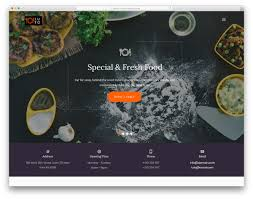 word website templates free 20 best ever free restaurant website templates of 2019