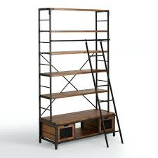 steel bookcase wood and metal with ladder world market inside inspirations 0 glass doors chennai steel bookcase