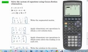6 1 reduced row echelon form calculator tutorial solving systems of equations