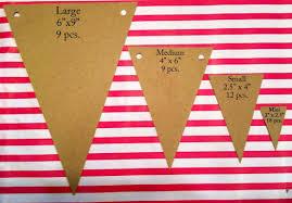 small board pennant flag 12 pcs