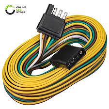 trailer wiring harness kit amazon com online led store 4 way flat wishbone style trailer wiring harness kit 25