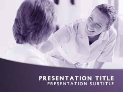 Royalty Free Nursing Powerpoint Template In Purple