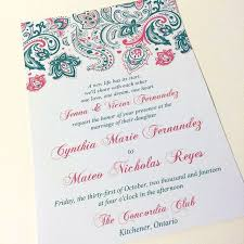 57 best nia's bollywood invitation inspiration images on pinterest Wedding Invitations Kitchener Ontario paisley wedding invitation with envelope invitation deposit (watermelon) \
