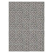 black greek key reversible peruvian flat weave rug alt image 1