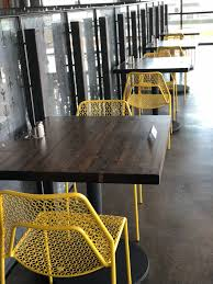 Black Hound Design Company Hand Made Restaurant Tables Stained 30x30 By Black Hound