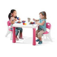 Kitchen Table Chair Set Step2 Lifestyle Kitchen Table And Chair Set Pink Toysrus