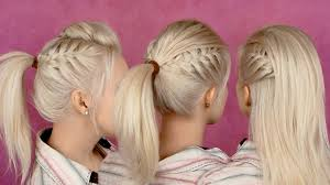 Half Ponytail Hairstyles Back To School Hairstyles For Everyday Braided Half Updo And