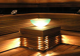 beautiful lighting. Illluminated Glass Basin Is Also A Beautiful Light Of Sauna. Lighting L