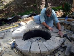 capstones are set on last course to finish firepit