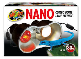 nano combo light fixture for crested geckos