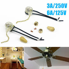 2pc set 3a 250v 6a 125v lighting ceiling fan pull chain switch 2