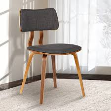 color armen living lcjasiwach jaguar dining chair in charcoal fabric and walnut wood finish