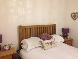 Laura Ashley Bedroom Furniture White Bedroom With Oak Bed And Gypsophila Wallpaper By Laura