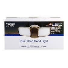 Feit Outdoor Led Flood Lights 1750 Lumens 5000k Dual Flood Light Fixture Feit Electric