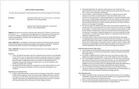 Use this joint venture agreement to establish the terms and conditions of the business venture between both parties. Joint Venture Agreement Template Microsoft Word Templates