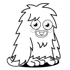 Cute Monster Coloring Pages For Kids Coloringstar