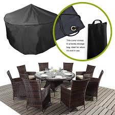 details about premium dining set garden furniture covers for round or rectangular choose size