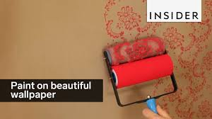This Patterned Roller Lets You Paint On Beautiful Designs Youtube Design Paint Rollers In India