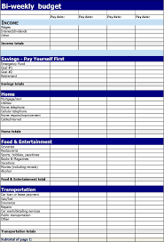 Bi-Weekly Budget Template | Download Free & Premium Templates, Forms ...