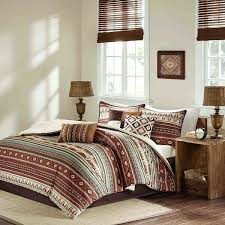 red brown blue white southwest comforter queen set native southwestern bedding horizontal tribal stripes geometric and