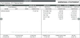 Payroll Free Paystub Generator No Watermark Check Template