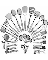kitchen utensils.  Utensils Stainless Steel Kitchen Utensil Set  29 Cooking Utensils Nonstick  Cookware With And S