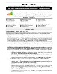 sample resume for retail operations manager   sample achievement    sample resume for retail operations manager retail manager resume sample monster robert j gasior eighth