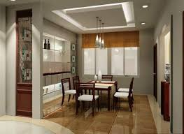 recessed lighting in dining room. Natural Feel In Casual Dining Room Design With Recessed Light And Three  Hanging Lamps Idea Recessed Lighting In Dining Room