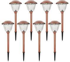 Energizer Stainless Steel Solar Lights Energizer 8 Piece Solar Landscape Light Set Qvc Com