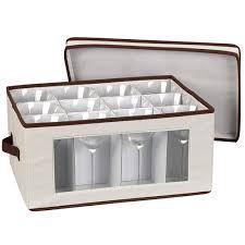 wine glass storage box. Vision Canvas Wine Goblet Storage Box Glass S