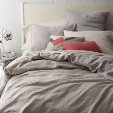 ... Belgian Flax Linen Quilt Cover + Pillowcases - Platinum ...