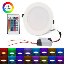 Details About 10w Multi Color Led Ceiling Light Rgb Panel Light Recessed Downlight Spot Lamp