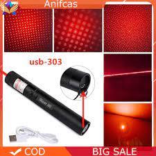 Đèn Pin Chiếu Tia Laser Có Cổng Sạc Usb