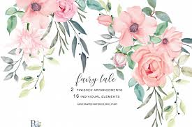 blush watercolor flowers clipart example image 1