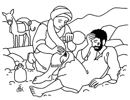 Small Picture Parable of the Good Samaritan Coloring Page Pinteres