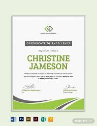 Modern Employee Excellence Certificate Template Word Psd