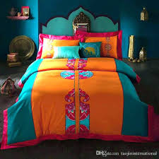 orange king size bedding sets bright colorful comforters king size bedding sets of cotton bright colored