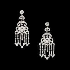 cartier platinum and diamond chandelier earrings harry fane vintage cartier