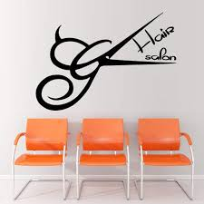 marvellous ideas hair salon wall decor dctal scissors decal barber sticker neutral haircut poster vinyl
