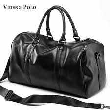 videng polo brand casual travel duffle bag pu leather men handbags big large capacity travel bags black mens messenger bag tote handbags on shoulder